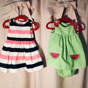 2 for 1 3-6 mo. Dresses